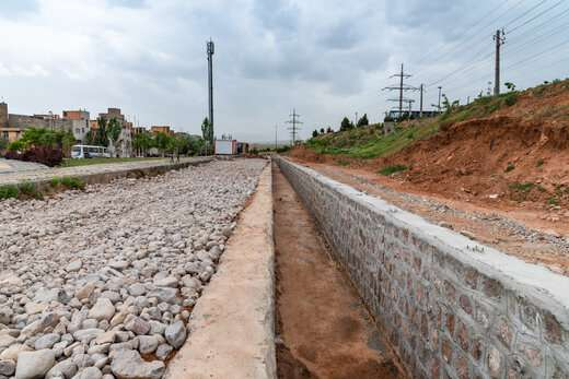 ۲هزار و ۸۵۰متر کانال هدایت آب های سطحی در منطقه ۴ تبریز احداث شد