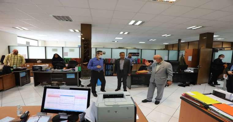 بازدید آقای دکتر رمضانپور از دوایر و دفاتر ساختمان شورای اسلامی شهر رشت