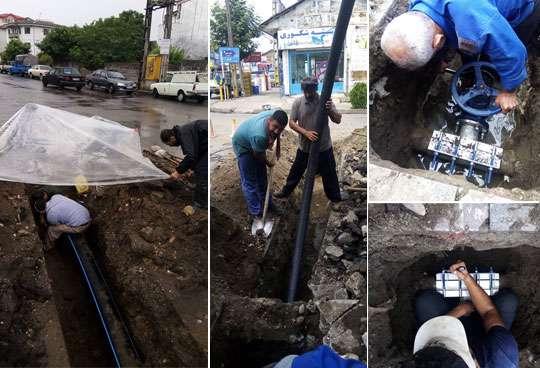 اصلاح شبكه آبرساني و تقویت فشار آب بخشي از شهر کلاچای