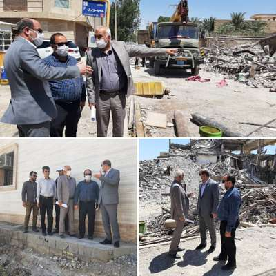 فرماندار ویژه خرمشهر به همراه سرپرست شهرداری خرمشهر از پروژه های جدید شهرداری بازدید کرد