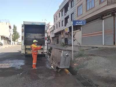 افزایش نظارت بر ضدعفونیسازی مخازن زباله سطح شهر