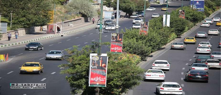 فضاسازی ماه محرم از سوی شهرداری منطقه ۲ تبریز