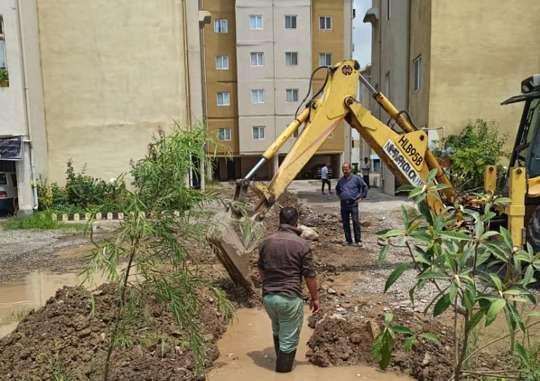 32متر توسعه شبکه آبرسانی مسکن مهر رشت