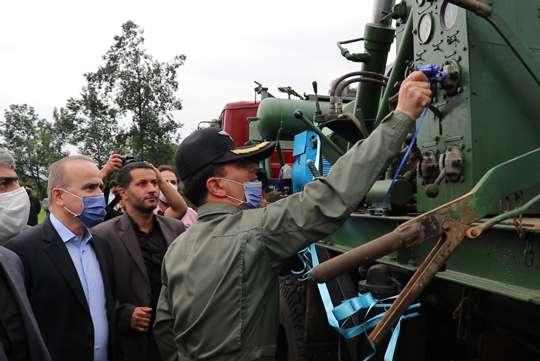 با حضور فرمانده هوانیروز ارتش جمهوری اسلامی ایران، پروژه آبرسانی به روستای آبرود افتتاح شد