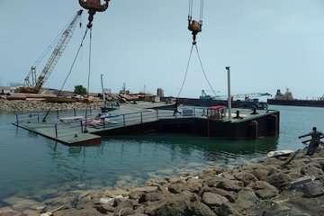 بهره برداری و به آب اندازی دوفروند رمپ فلزی متعلق به بندرگاه ابوموسی/ فراهم شدن امکان پهلوگیری انواع شناورها تجاری، صیادی، مسافری و گردشگری درشهرستان ابوموسی