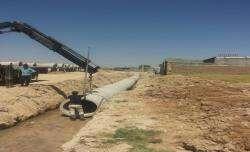 اجرای بیش از ۲۸۰۰ متر طول لوله گذاری دفع آبهای سطحی در سال ۹۸