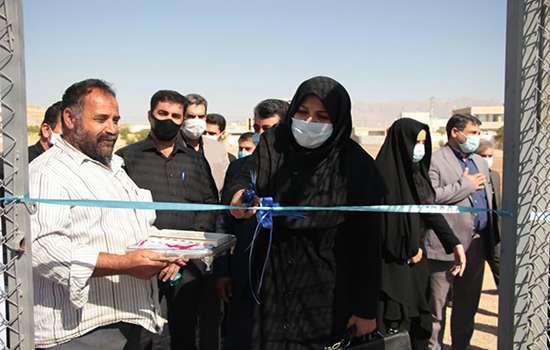 به مناسبت هفته دولت اولین چمن مصنوعی در حوزه شهری مهریز افتتاح شد