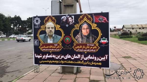 رونمایی المان شهیده «نازقلیچی» و شهید «عباسی» به مناسبت هفته دولت