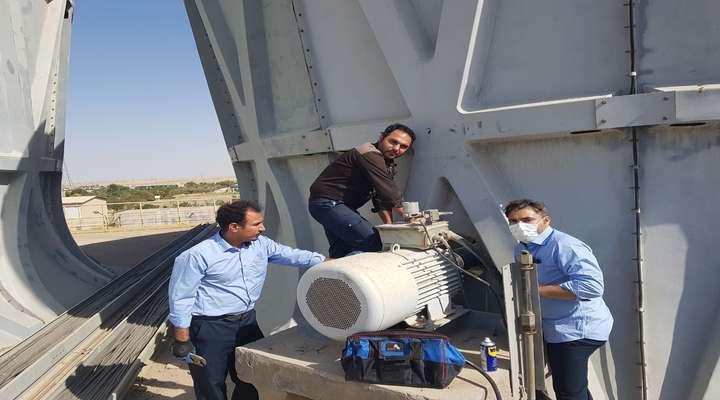 تعویض درایو شفت فن برج خنک کن واحد۳ نیروگاه شهید مفتح