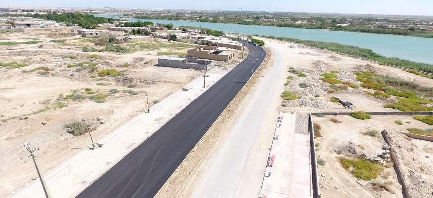 خیابان ساحلی به طول بیش از یک کیلومتر توسط شهرداری خرمشهر آسفالت شد