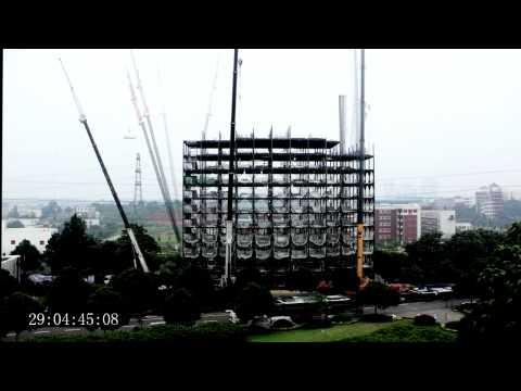 ساخت هتل ۱۵ طبقه در شش روز !