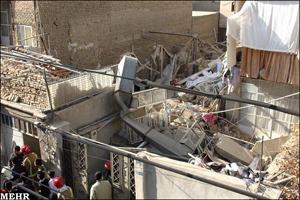 ریزش ساختمان سه طبقه به دلیل گودبرداری غیراصولی