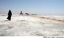 ۵۳ درصد سطح پارک ملی دریاچه ارومیه خشکید