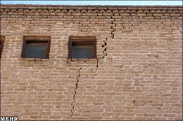 بخشی از سقف قلعه شوش فرو ریخت