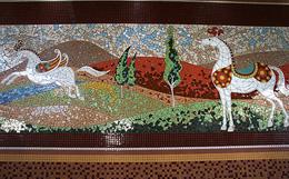 رونمایی از بخش دوم سومین نقاشی دیواری لاله اسکندری