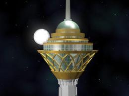 اثر حجمی شمس ولایت در برج میلاد تهران نصب شد