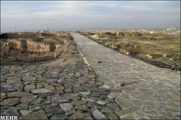 لوله های آب مهمان جدید شهر تاریخی بیشاپور