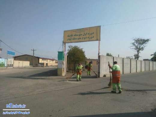 اجرای طرح استقبال از بازگشایی مدارس در منطقه ۷ تبریز