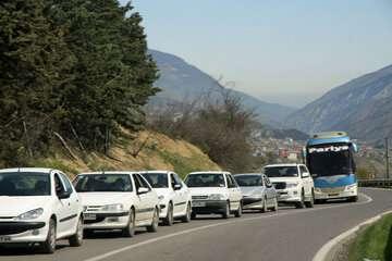 ترافیک در محور هراز و کندوان سنگین شد