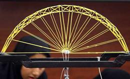 مسابقات پلهای ماکارونی در دانشگاه بوعلی سینا آغاز شد