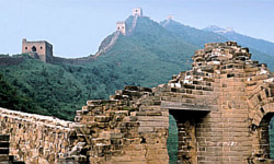 بخشی از دیوار چین فرو ریخت