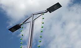 ذوب شدن لامپ های خیابانها بر اثر گرمای شدید در اوکلاهما
