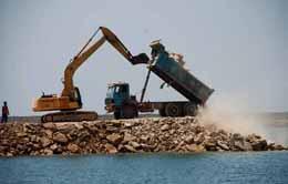 ساحلسازی شرق رودخانه کارون