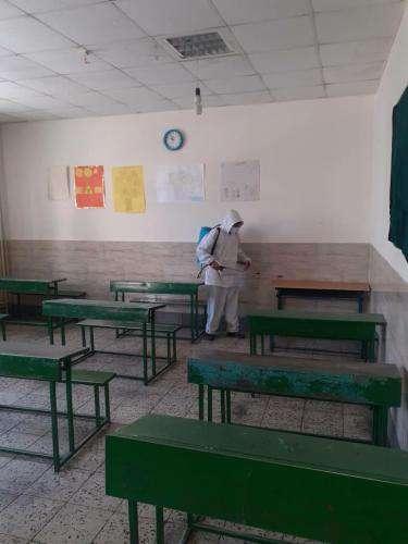 گندزدایی ۹۰ مدرسه برای پیشگیری از شیوع ویروس کرونا/ ضدعفونی روزانه  ...
