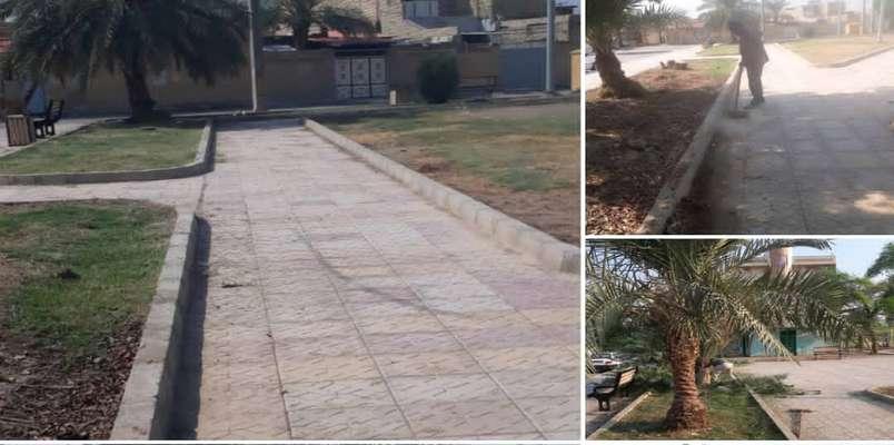 بهسازی فضای سبز پارک محله ای بلوار امیرکبیر توسط شهرداری خرمشهر انجام شد