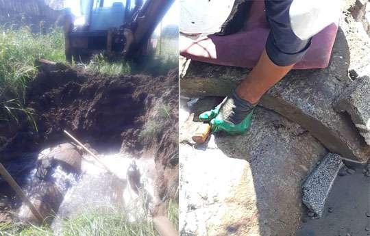 جلوگیری از هدر رفت 2 لیتر برثانیه آب با رفع نشتی خط انتقال آب در دهکده ساحلی بندر انزلی
