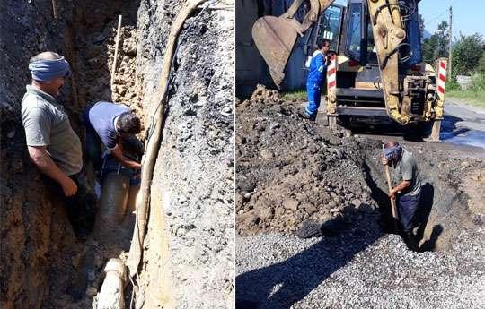 با رفع شکستگی خط انتقال ازهدر رفت 1.5لیتر آب دررحیم آباد رودسر جلوگیری شد