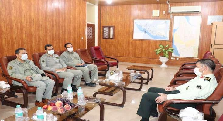 دیدار مدیرکل حفاظت محیط زیست استان بوشهر با فرمانده نیروی انتظامی استان بوشهر