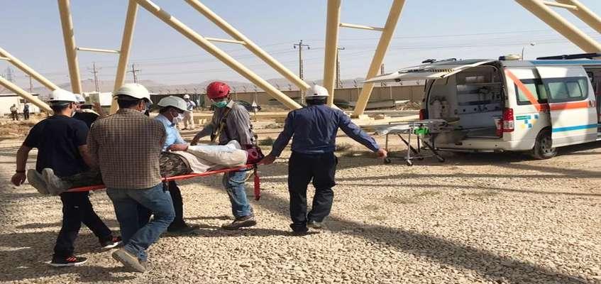 برگزاری مانور امداد و نجات و سقوط از ارتفاع در نیروگاه شهید مفتح