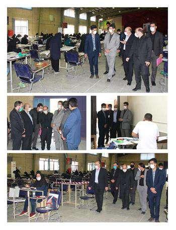 بازدید از روند برگزاری آزمون ورود به حرفه طراحی معماری در اصفهان