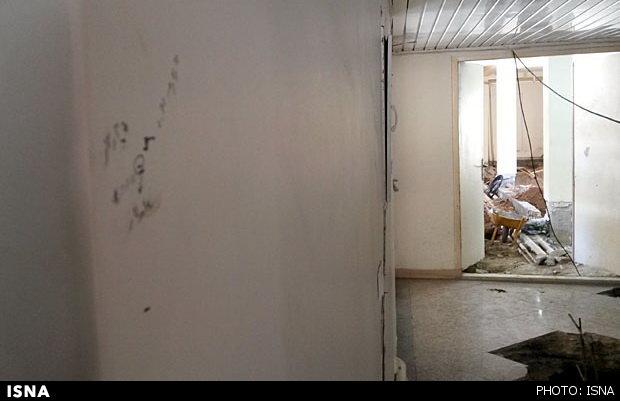 تخلیه خوابگاه دانشجویی در معرض ریزش