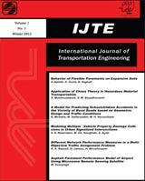انتشار مقالات نشریه بین المللی مهندسی حمل و نقل (IJTE) در سیویلیکا