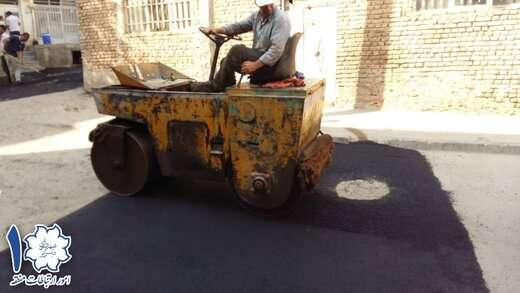 ۵۰ تن آسفالتریزی در ساماندهی کوچه ستاری در مسیر خیابان شهید رجایی