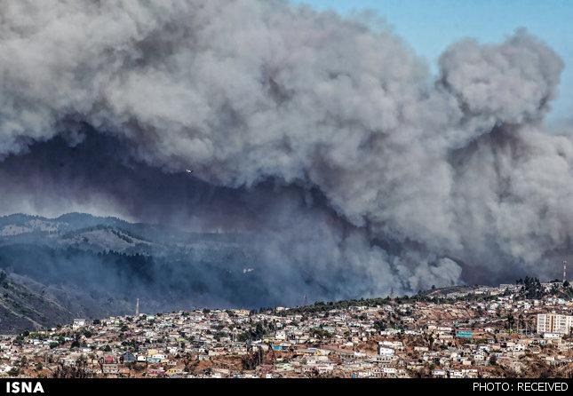حریق، شهر «والپارایزو» را تخلیه کرد