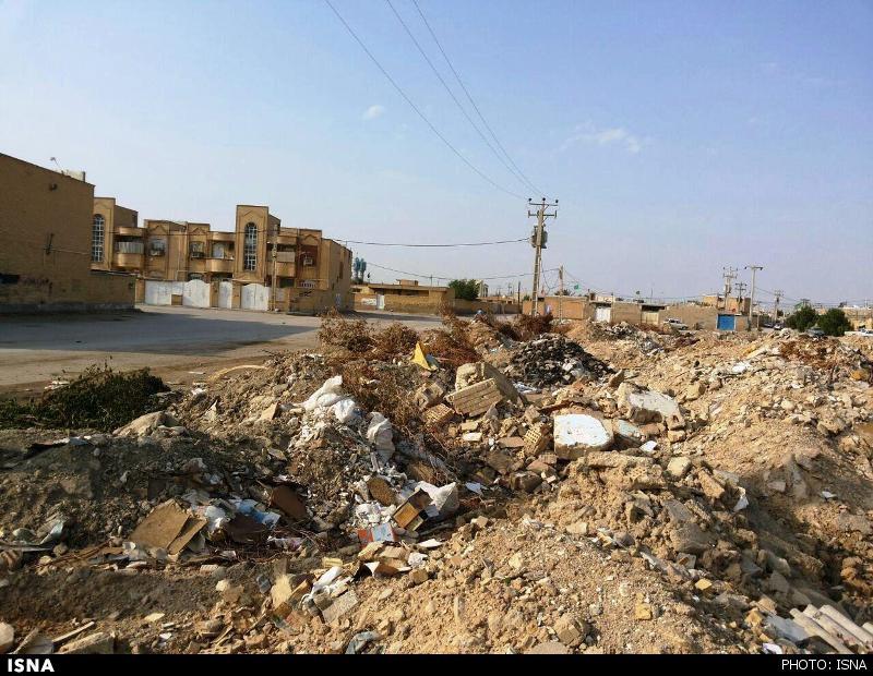 بجنورد در محاصره نخالههای ساختمانی