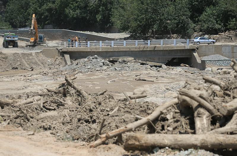 خط تخریب پلهای روستایی درپی سیلاب اخیر