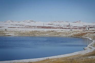 زمینخواری تهدیدی جدید برای دریاچه بزنگان
