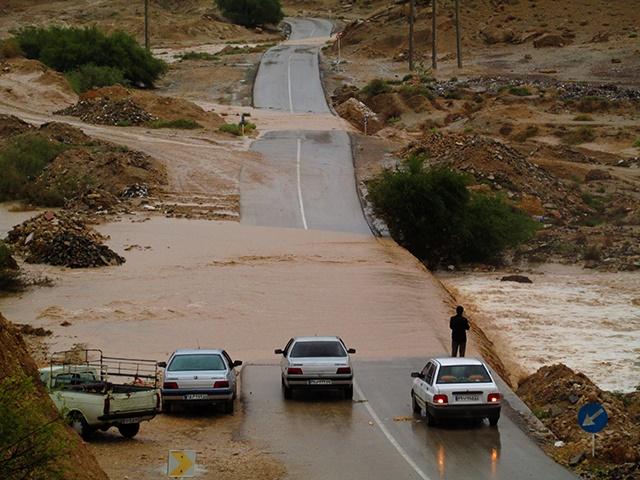 بارش شدید باران در شبانکاره و طغیان رودخانه ها