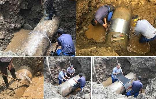 با رفع دو فقره شکستگی 15لیتر برثانیه به ظرفیت تامین آب شهر چابکسر اضافه شد