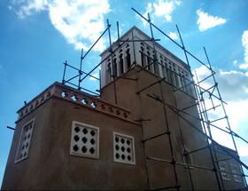 مرمت بادگیر خانه تاریخی «تدین» سمنان