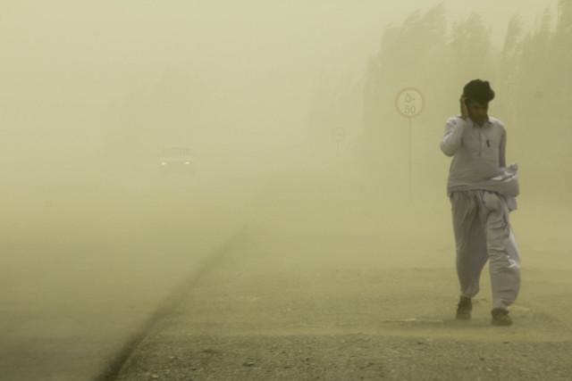 غلظت گرد و غبار امروز اهواز ۷ برابر حدمجاز