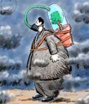 شرایط ناسالم هوای تهران برای گروههای حساس