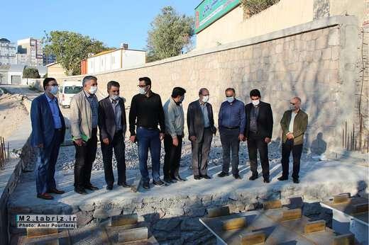 بازدید شهردار منطقه ۲ از روند عملیات اجرایی پل همسان کابلی تبریز