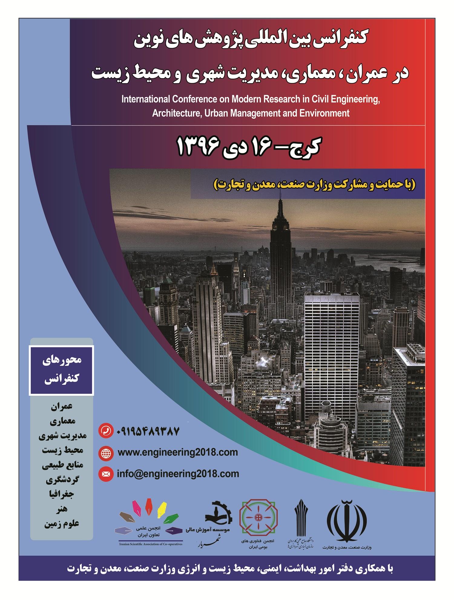 کنفرانس بین المللی پژوهشهای نوین در عمران، معماری، مدیریت شهری و محیط زیست