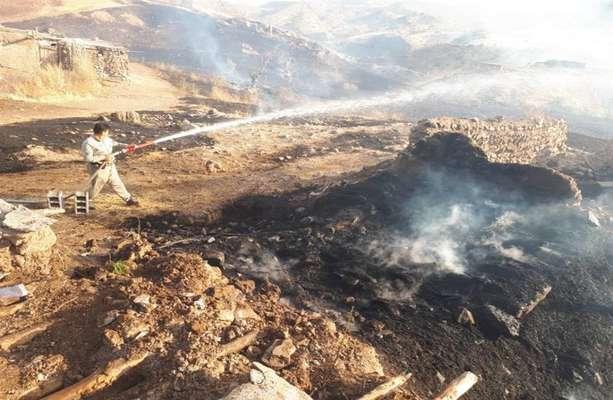 آتش سوزی پوشش گیاهی علفی در منطقه حفاظت شده آق داغ خلخال بخش خورش رستم مهار شد