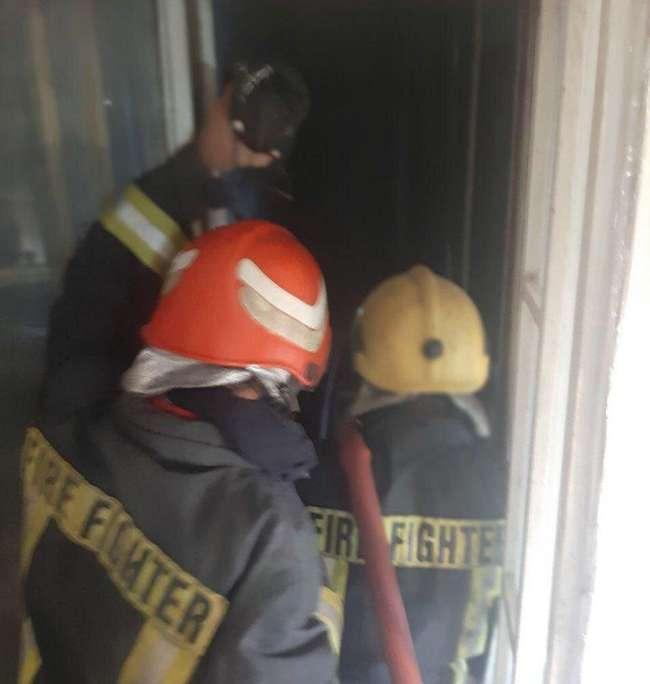 اطفاء سریع آتش سوزی پاساژ شیخصفی